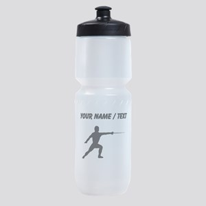 Custom Fencer Silhouette Sports Bottle